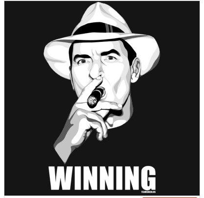 winning charlie sheen gif. Charlie Sheen Winning